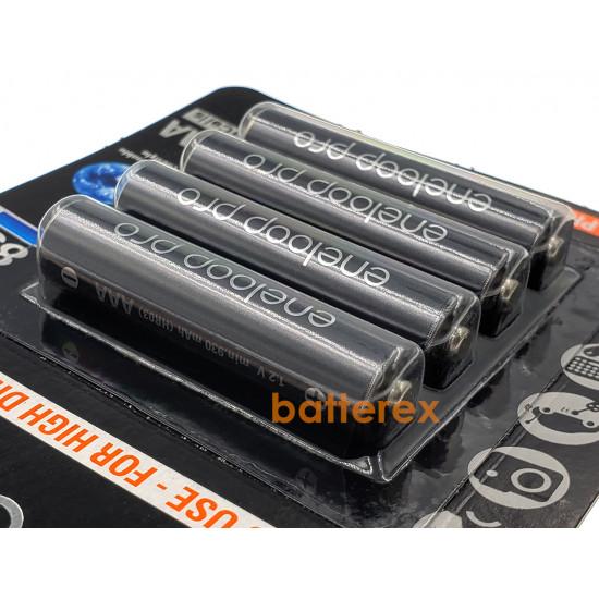 Минипальчиковые аккумуляторы AAA Panasonic Eneloop Pro 980mah min.930mah BK-4HCDE/4BE - 4 шт. в картонном блистере