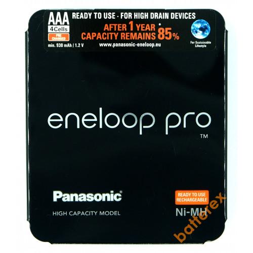AAA Panasonic Eneloop Pro 980mah (min.930mah) BK-4HCDE/4LE - 4 аккумулятора в слайд-блистере Sliding Pack - 2020 год