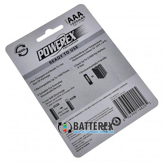 Минипальчиковые AAA аккумуляторы Powerex 1000 mah - 4 шт. в блистере
