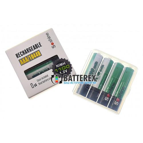 AAA Soshine 1100 mah - 4 аккумулятора с боксом в фирменной упаковке