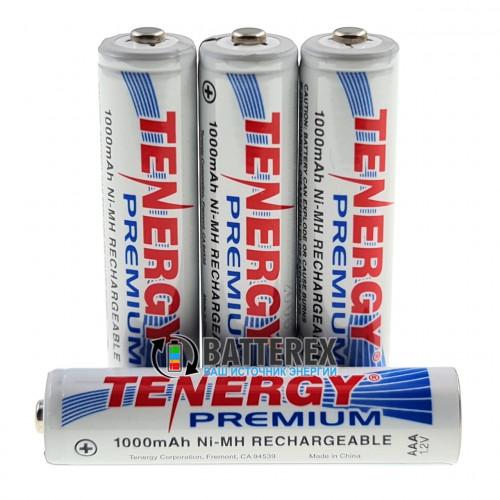 AAA Tenergy Premium 1000 mah с низким саморазрядом - поштучно от 1 шт.