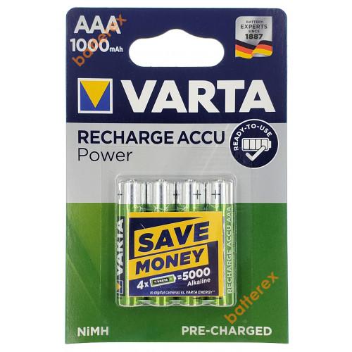 AAA Varta 1000 mah Ready-to-Use - 4 аккумулятора в блистере - оригинал