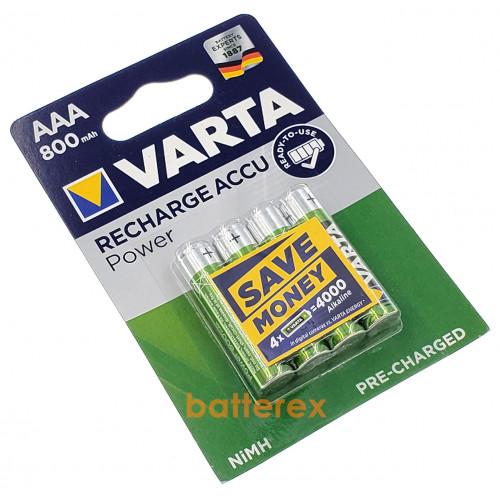AAA Varta 800 mah Ready-to-Use - 4 аккумулятора в блистере - оригинал