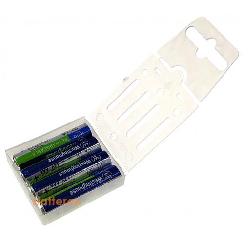 AAA Westinghouse MAX 1000 mah - 4 аккумулятора в пластиковом кейсе