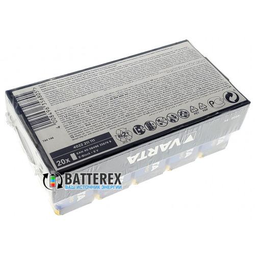 Батарейки Крона Alkaline Varta Industrial Pro 9V - упаковка 20 шт - Оригинал