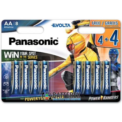 Батарейки АА Alkaline LR6 1.5V Panasonic Evolta Power Rangers - 8 шт. в блистере