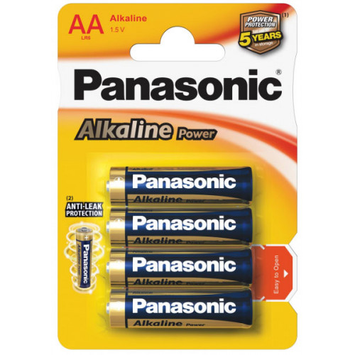 Батарейки AA Alkaline LR6 Panasonic Power 1.5V - 4 шт. в блистере