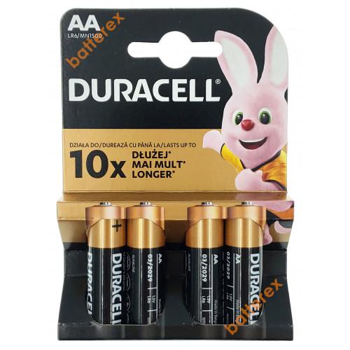 Батарейки АА Alkaline Duracell LR6 1.5V - 4 шт. в блистере (цена за упаковку)