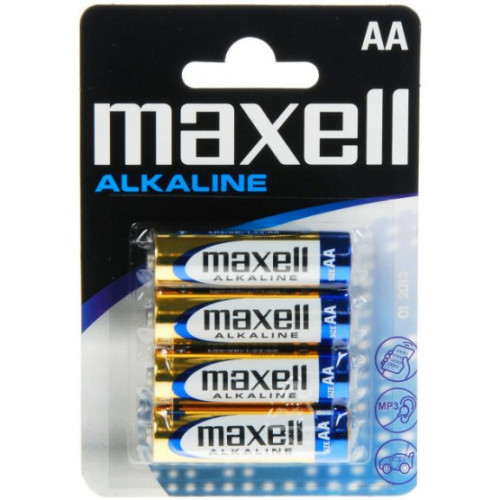 Батарейки АА LR6 Maxell Alkaline 1.5V - 4 шт. в блистере