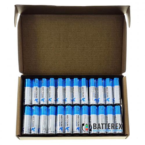 АА Nectium Golden LR6 1.5V - батарейки АА Alkaline с позолоченным контактом минус - упаковка 48 шт.