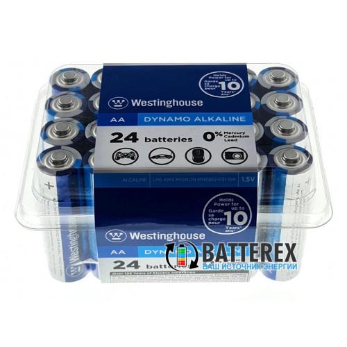 Батарейки АА Westinghouse Dynamo Alkaline LR6 1.5V - экономичная упаковка 24 шт.