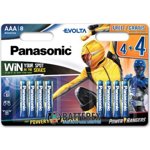 Батарейки щелочные ААА Panasonic Evolta Power Rangers Alkaline LR03 1.5V - 8 шт. в блистере