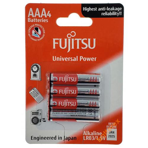Батарейки ААА Alkaline Fujitsu Universal Power LR03 1.5V - 4 шт. в блистере