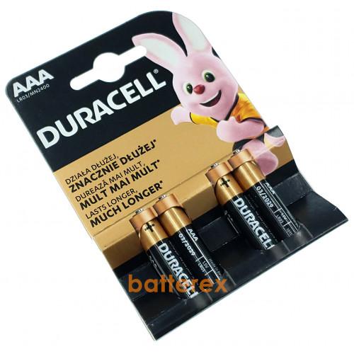 Батарейки АAА Alkaline Duracell LR03 1.5V - 4 шт. в блистере (цена за упаковку)