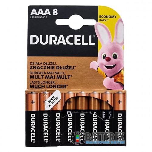 Батарейки АAА Alkaline Duracell LR03 1.5V - упаковка 8 шт.