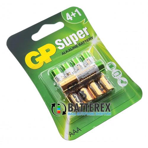 Батарейки щелочные AAA GP Super Alkaline LR03 1.5V - 5 шт. в блистере