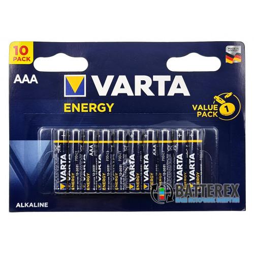 Батарейки щелочные AAA Varta Energy Alkaline LR03 1.5V блистер 10 шт. - сделаны в Германии