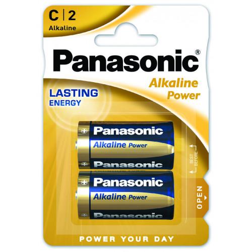 Батарейки C LR14 Panasonic Alkaline Power 1.5V - 2 шт. в блистере