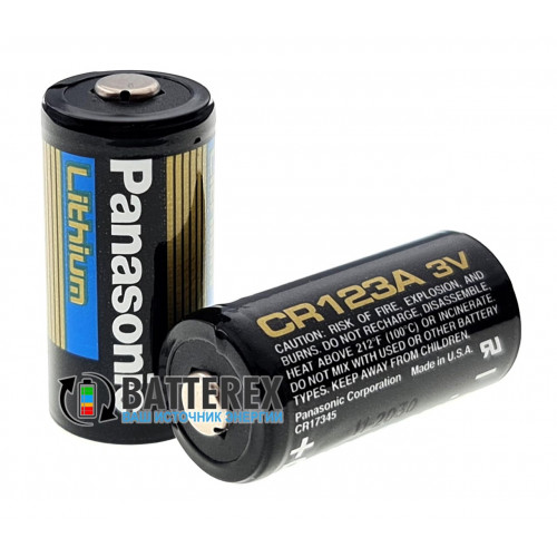 Батарейка CR123A Panasonic Lithium 3V промышленная Made in USA