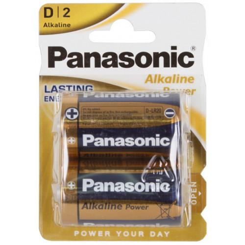 Батарейки D LR20 Panasonic Alkaline Power 1.5V - 2 шт. в блистере