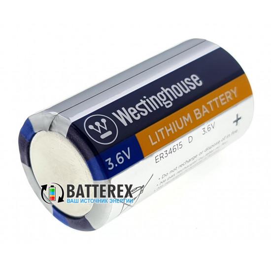 Батарейка литиевая LiSOCl2 Westinghouse D ER34615 3.6V