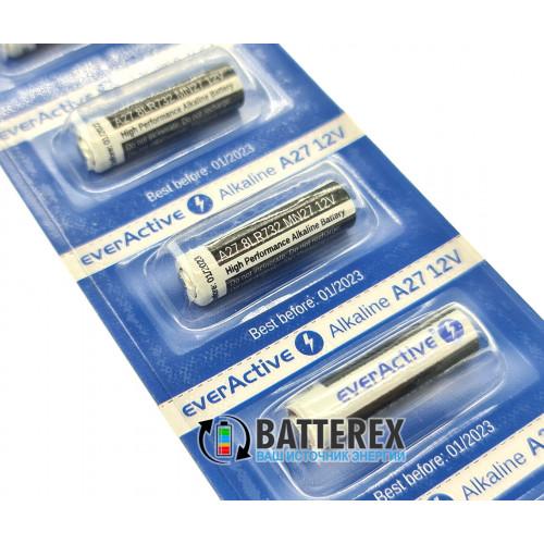 Батарейка А27 Everactive Alkaline 12V (27A, CA27, L828, MN27)
