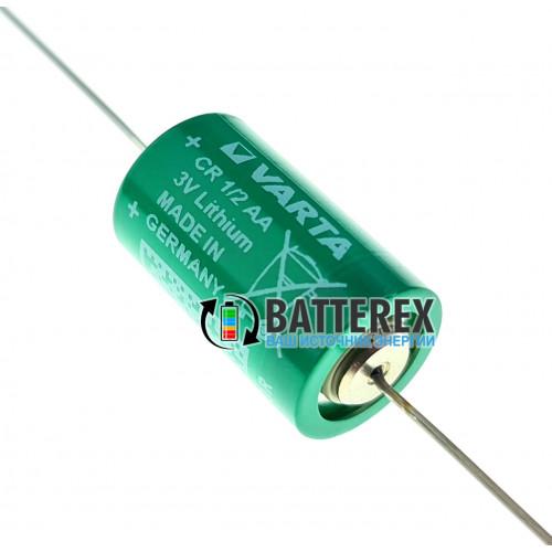 Батарейка литиевая Varta CR 1/2 AA 3V LiMnO2 с выводами под пайку - Made in Germany
