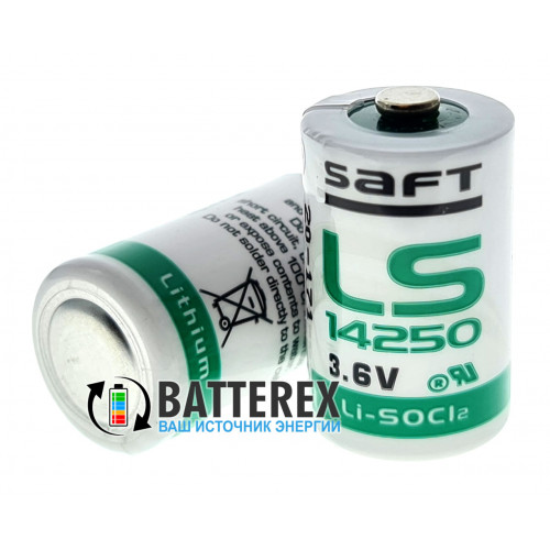 Батарейка литиевая SAFT LS 14250 1/2AA STD 3,6V LiSOCl2 Made in UK