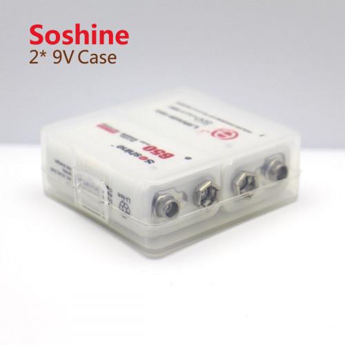 Пластиковый бокс Soshine SBC-018 на 2 аккумулятора Крона