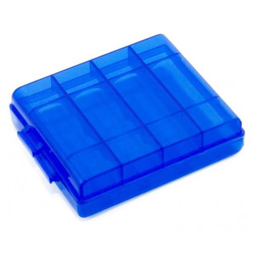 Пластиковый бокс Extradigital на 4 аккумулятора АА / ААА (синий)