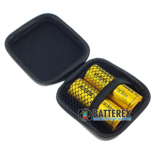 Чехол на змейке Vapcell для аккумуляторов 26650, 18650 или аксессуаров (чёрный)