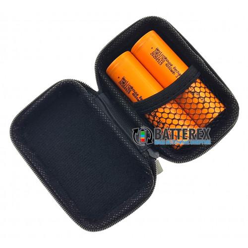 Vapcell VPC-21 black - чехол на змейке для аксессуаров или аккумуляторов 21700/18650 (чёрный)
