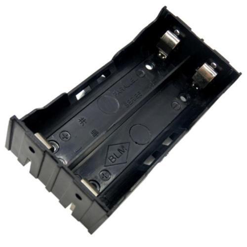 Батарейный блок на 2 аккумулятора 18650 (плоские контакты, без проводов)