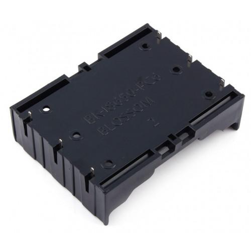 Батарейный отсек на 3 аккумулятора 18650 для установки на плату (любой тип соединения)