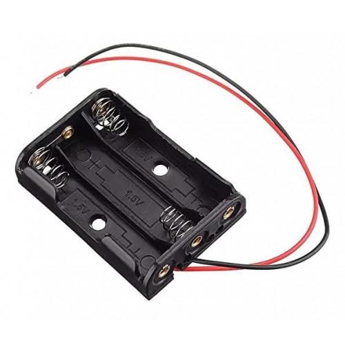 Батарейный отсек на 3 аккумулятора AАA с пружинами и проводами (последовательное соединение)