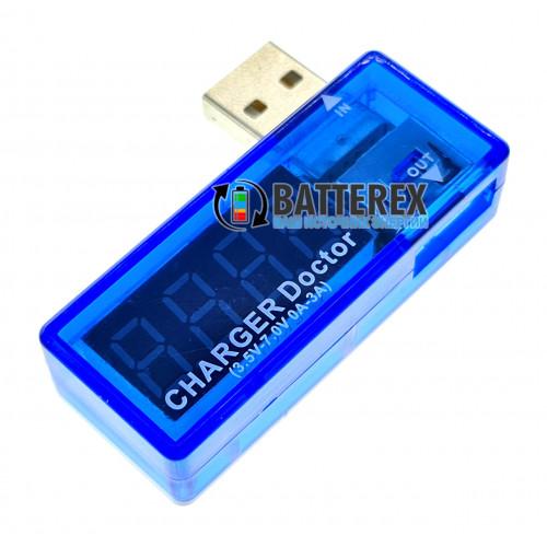 USB тестер Charger Doctor угловой для измерения напряжения и тока