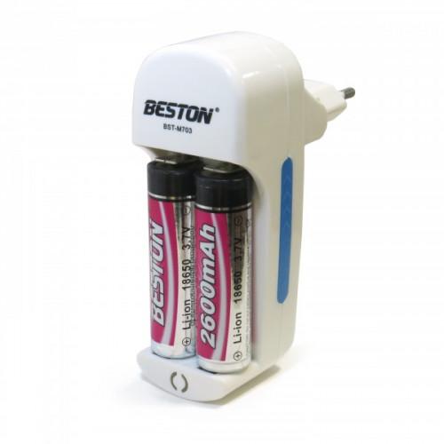 Beston M703 - автоматическое зарядное устройство на 2 канала для аккумуляторов 18650, 14500, 16340