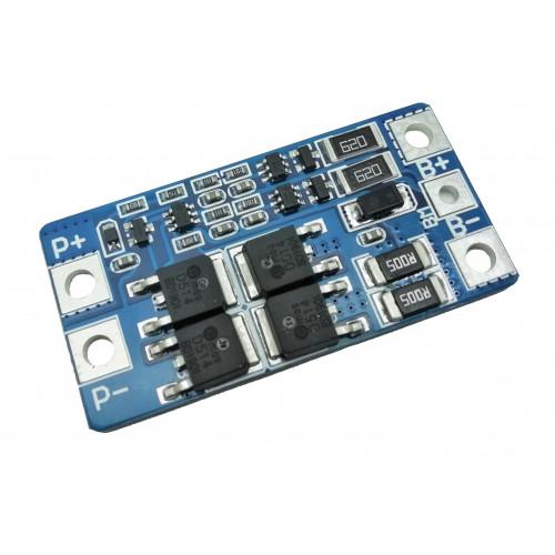BMS плата защиты 2S 10/20A 7.4-8.4V (HX-2S-JH20) с балансировкой для 2х аккумуляторов 18650