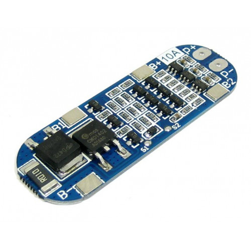 BMS плата защиты 3S 10A 11.1-12.6V (HX-3S-FL10A) для 3х аккумуляторов 18650