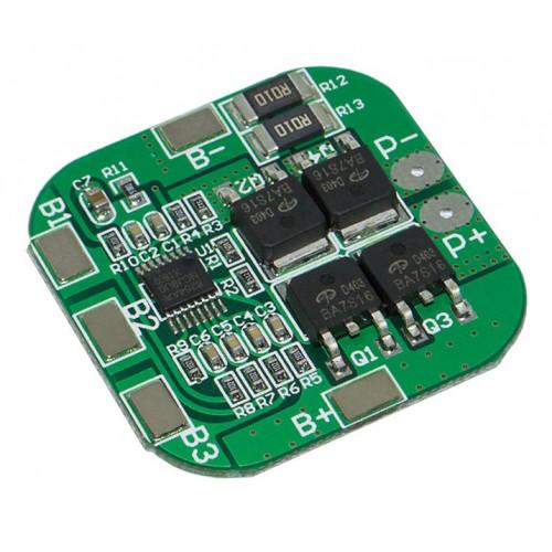 BMS плата защиты 4S 20A 14.8-16.8V (HX-4S-D20) для 4х аккумуляторов 18650