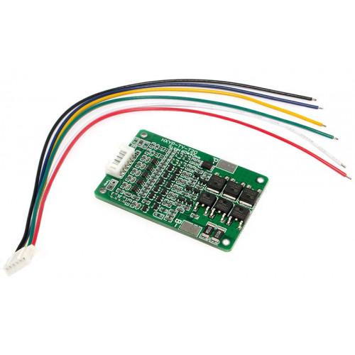 BMS плата защиты 5S 15/20A 21V (HX-5S-TY-T20) с балансировкой для 5 аккумуляторов 18650