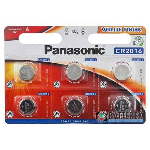 Батарейка CR2016 Panasonic Lithium Power 3V  - поштучно от 1 шт.