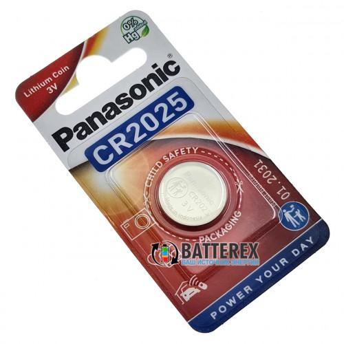 Батарейка CR2025 Panasonic Lithium Power 3V - 1 шт. в блистере