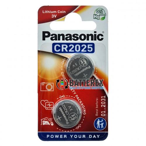 Батарейка CR2025 Panasonic Lithium Power 3V - 2 шт. в блистере