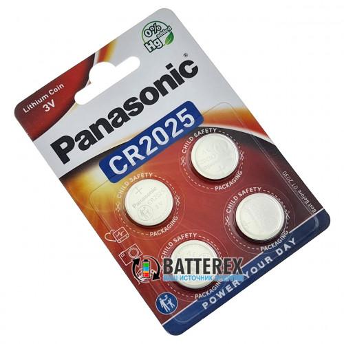 Батарейка CR2025 Panasonic Lithium Power 3V - 4 шт. в блистере