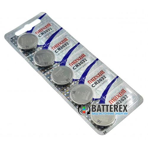 Батарейка CR2032 Maxell Lithium 3V (Made in Japan) - 5 шт. в блистере