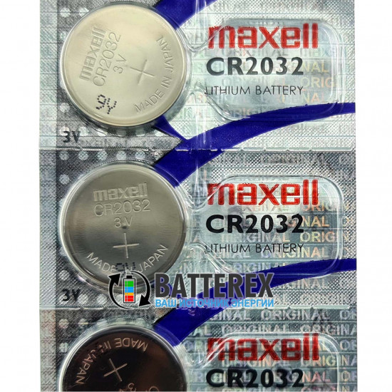 Батарейка CR2032 Maxell Lithium 3V Made in Japan поштучно от 1 шт