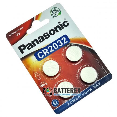 Батарейка CR2032 Panasonic Lithium Power 3V - 4 шт. в блистере