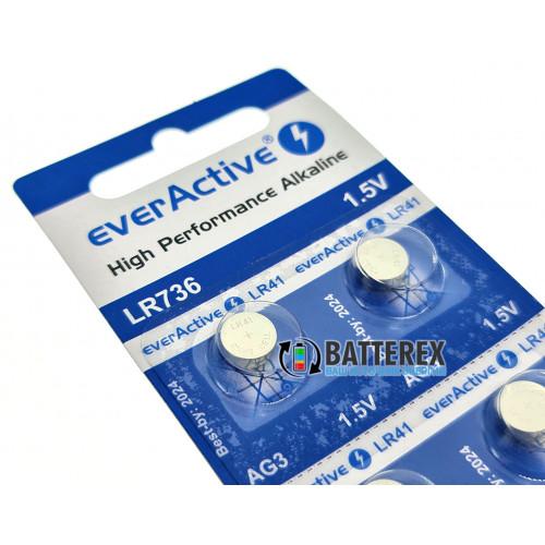 Батарейка LR41 AG3 Everactive Alkaline 1,5V (LR736 384 392 SR41) - цена за 1 шт.