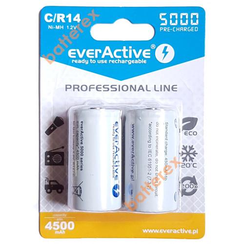 Аккумулятор C R14 Everactive 5000 mah Ready to use (цена за 1 шт.)